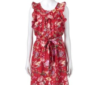 Women's LC Lauren Conrad Floral Ruffle Fit & Flare